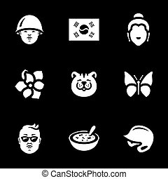 Vector Set of South Korea Icons.