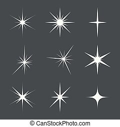 Vector set of sparkle lights