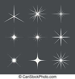 Vector set of sparkle lights