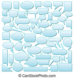 speech bubbles - vector set of speech bubbles