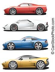Vector set of sport cars.