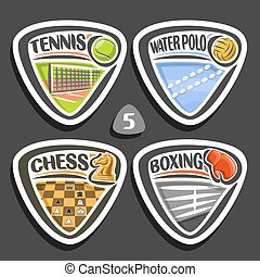 Vector set of sport logos