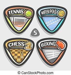 Vector set of sport logos