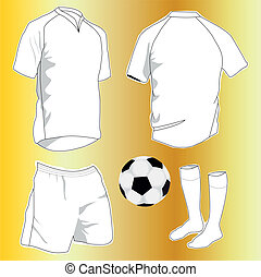 sport uniforms - vector set of sport uniforms