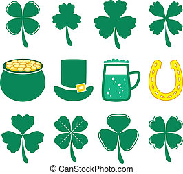 vector set of St. Patrick's Day icons
