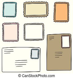 vector set of stamp