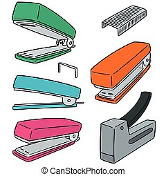 vector set of stapler