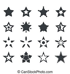 Vector set of star icons