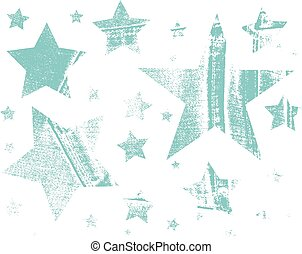 Vector Set of Stars. Stars with different patterns. Stars icons. Hand drawn doodle Stars.