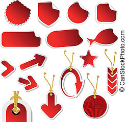 Vector set of stickers and tags
