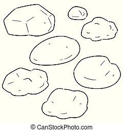 vector set of stone