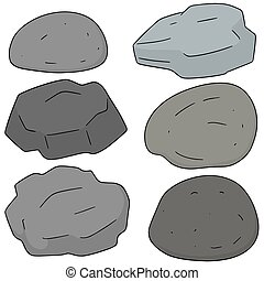 vector set of stone