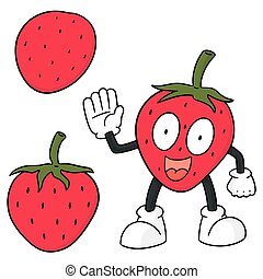 vector set of strawberry