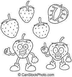 vector set of strawberry