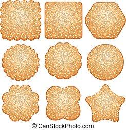 vector set of sugar cookies