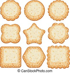 vector set of sugar cookies