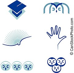 Vector set of symbols Education