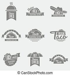 vector set of taco logo concepts. Template can be used to ...