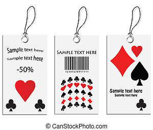 Vector set of tags - poker design