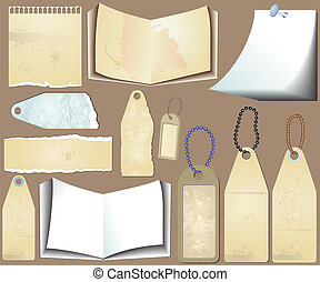 Vector set of the grunge scrapbooks