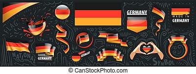 Vector set of the national flag of Germany