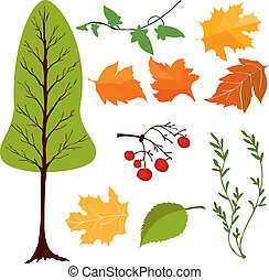 vector set of tree and leaves