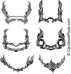 Vector set of tribal wreaths