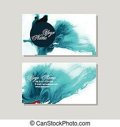 vector set of two creative business cards