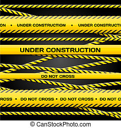 Under construction - Vector set of Under construction lines ...