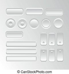 Vector set of user interface elements