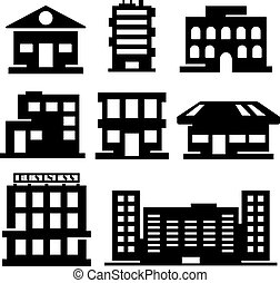 Vector set of various buildings