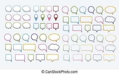 Vector set of various speech bubbles