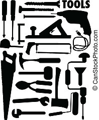 vector set of various tools