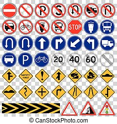 set of various Traffic Sign