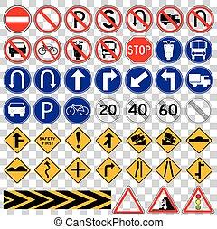 set of various Traffic Sign