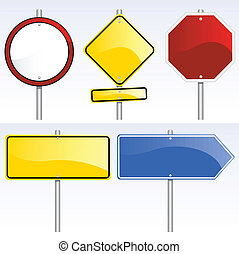 traffic signs - vector set of various traffic signs