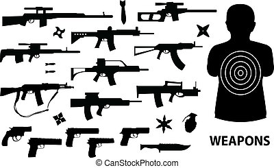 weapons - vector set of various weapons