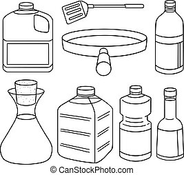 vector set of vegetable oil