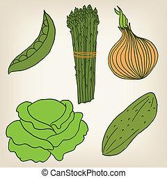 Vector Set of vegetables