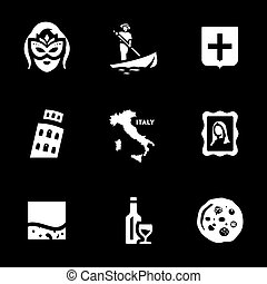 Vector Set of Venice Icons.
