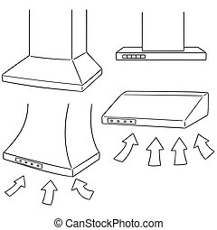 vector set of vent hood
