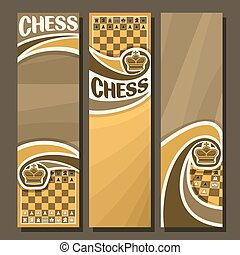 Vector set of vertical banners for Chess