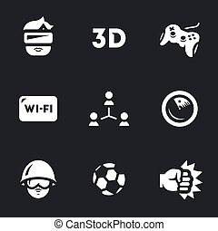 Vector Set of Video Games Icons.