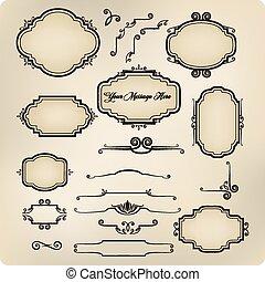 Vector set of vintage calligraphic elements