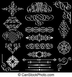 Vector set of vintage design elements