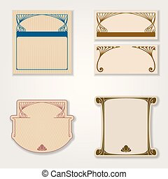 Vector set of vintage labels.