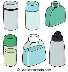 vector set of water bottles