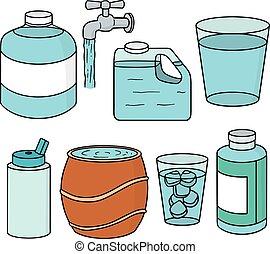 vector set of water