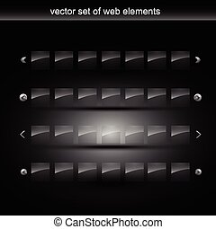 web element - vector set of web element