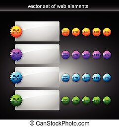 web element - vector set of web elements